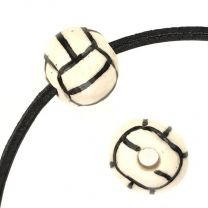 11MM Ceramic Volleyball Bead With 3MM Hole