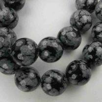 12MM Ball Snowflake Obsidian