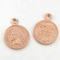 13x10MM Indian Head Penny Coin Charm