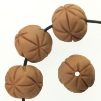 14MM Star Incised Terracotta Color Clay Ball