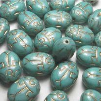 14X10MM Green Turquoise Scarab