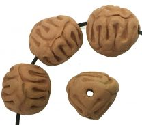 16x14MM Incised Terracotta Color Clay Ball