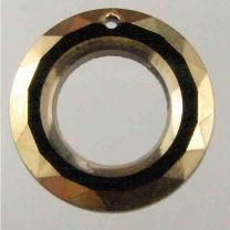 19MM Jet Facetted Ring