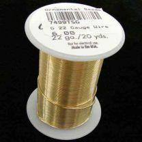 22 Gauge Gold Tarnish Resistant Wire