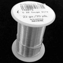 22 Gauge Silver Color Tarnish Resistant Wire