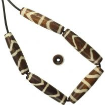 24x6MM_Brown_And_White_Bone_Hairpipe_With_15MM_Large_Hole