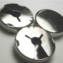 25MM Silver Button Cover