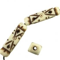 30x8MM_Carved_Antique_White_Bone_Square_Cylinder_With_25MM_Large_Hole