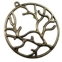 40MM Antique Brass Plate Tree