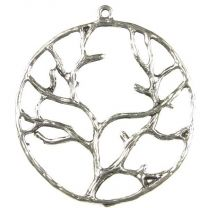 40MM Antique Silver Plate Tree