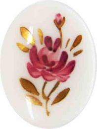 40X30 Pink Flower On White