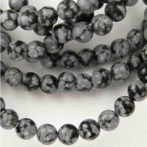 4MM Ball Snowflake Obsidian