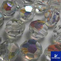 4MM Crystal AB Preciosa Machine Cut