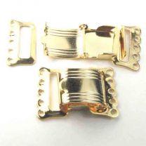 5 Strand Gold Foldover Clasp