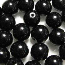 6MM Jet Black Round Druk Ball
