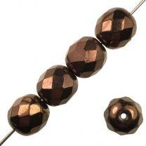 8MM Dark Copper Iris Fire Polish Ball