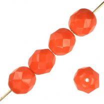 8MM Orange Fire Polish Ball