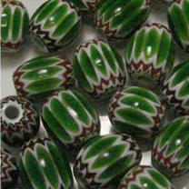 8X6 Green Chevron Oval