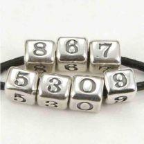 8 Sterling Silver 4MM Alphabet