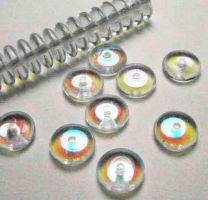 8mm Crystal AB Belly Rondelle