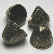 Antique Brass Plate 13MM Cone With 12MM Opening