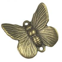 Antique Brass Plate 17x15MM Butterfly Connector