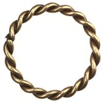 Antique Brass Plate 18MM Twisted Round Jump Ring