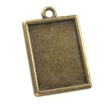 Antique Brass Plate 20x15MM Setting Pendant
