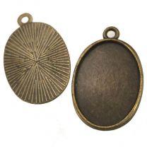 Antique Brass Plate 25x18MM Bezel Setting