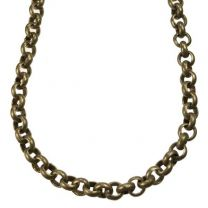 Antique Brass Plate 4x25MM Rolo Chain