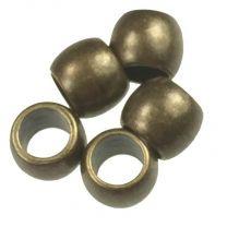 Antique Brass Plate 5x4MM Ball Bead