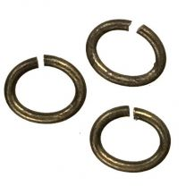 Antique Brass Plate 5x4MM Oval Jump Ring
