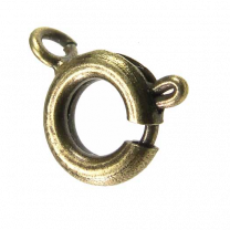 Antique Brass Plate 7MM Spring Ring Clasp