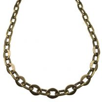 Antique Brass Plate 8x6MM Flat Oval by 8x4MM Round Long Oval Cable Chain