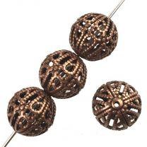 Antique Copper 7MM Filigree Ball