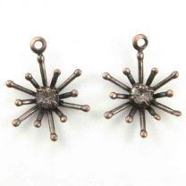 Antique_Copper_Plate_11MM_Starburst_With_Crystal_Rhinestone