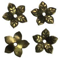 Antique Copper Plate 12MM 5 Petal Blossom