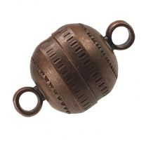 Antique Copper Plate 14x8MM Magnetic Ball Clasp