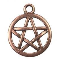Antique Copper Plate 16MM Pentagram