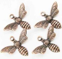 Antique Copper Plate 17x11MM Bumble Bee