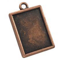 Antique Copper Plate 20x15MM Setting Pendant