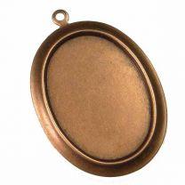 Antique Copper Plate 25x18MM Setting Pendant