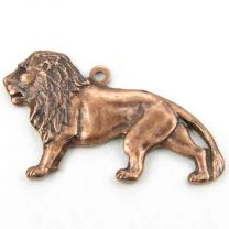 Antique Copper Plate 26x16 Lion Diestruck