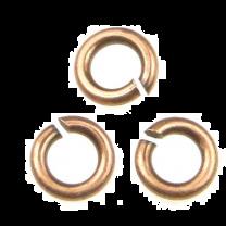 Antique Copper Plate 4MM Open Jump Ring 20 Gauge