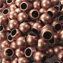Antique Copper Plate 5x4MM Ball Bead