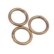 Antique Copper Plate 6MM 22 Gauge Soldered Jump Ring