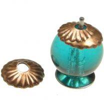 Antique Copper Plate 6MM Fluted Bead Cap