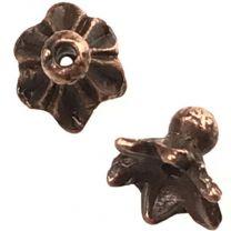 Antique Copper Plate 6x7MM Leaf Bead Cap