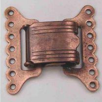 Antique Copper Plate 7-Strand Clasp