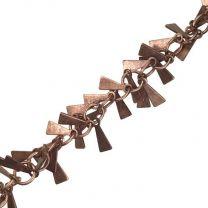 Antique Copper Plate 8MM Triangle Dangle Chain
